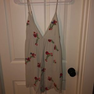 Urban Outfitters Floral Embroidered Romper !!!